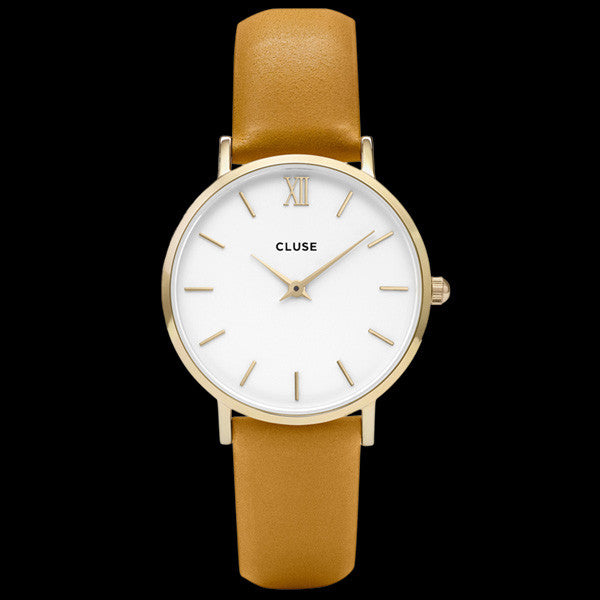 CLUSE MINUIT GOLD WHITE/MUSTARD WATCH