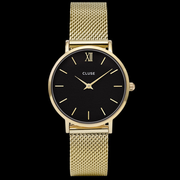 CLUSE MINUIT MESH GOLD/BLACK WATCH