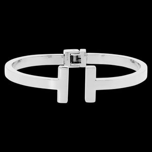ELLANI STAINLESS STEEL DOUBLE BAR HINGE BRACELET