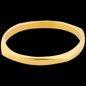ELLANI STAINLESS STEEL GOLD IP CUSHION BRACELET