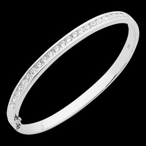 ELLANI STERLING SILVER CZ CHANNEL SET BRACELET