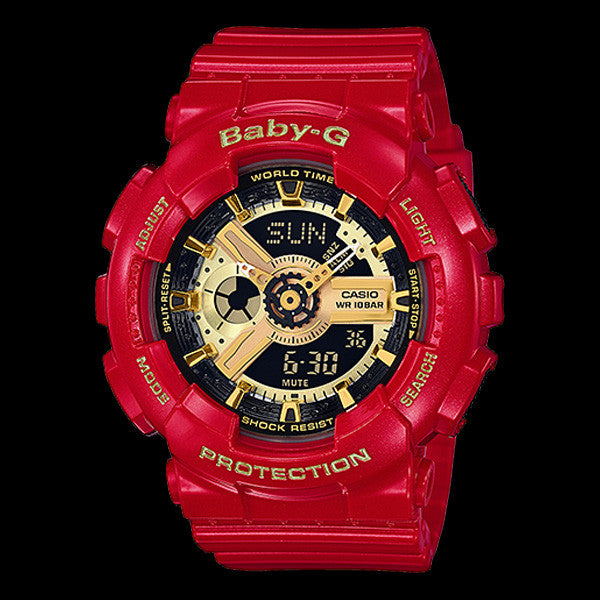 CASIO BABY-G RED & GOLD CHINESE NEW YEAR LIMITED EDITION WATCH BA110VLA-4A
