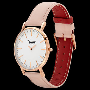 DOXIE PENELOPE ROSE GOLD PEACH 40MM WATCH - ANGLE VIEW