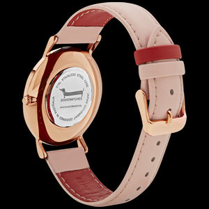 DOXIE PENELOPE ROSE GOLD PEACH 40MM WATCH - BACK VIEW