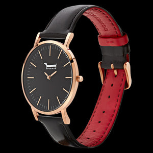 DOXIE SOPHIE ROSE GOLD BLACK 40MM WATCH - ANGLE VIEW