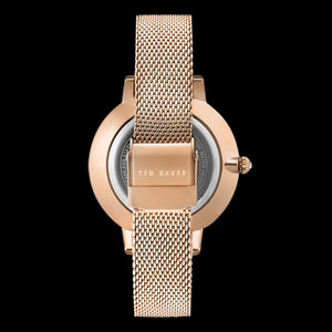 TED BAKER KATE ROSE GOLD PINK DIAL MESH WATCH - BACK VIEW