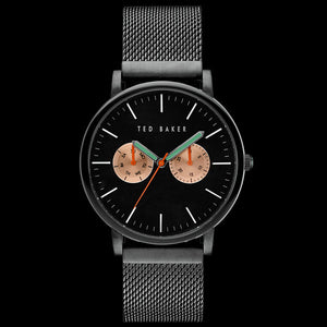 TED BAKER BRIT BLACK CHRONO MESH WATCH