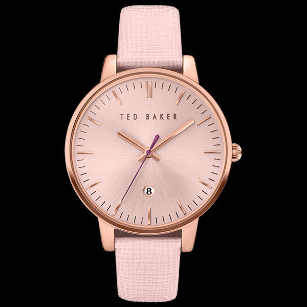 TED BAKER KATE ROSE GOLD PINK LEATHER WATCH