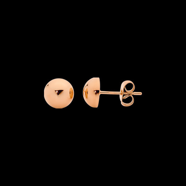 ELLANI STAINLESS STEEL 5MM DOME ROSE GOLD STUD EARRINGS