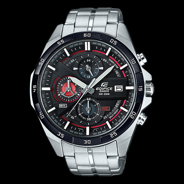 CASIO EDIFICE 500 SERIES BLACK RED DIAL CHRONOGRAPH WATCH EFR556DB-1A
