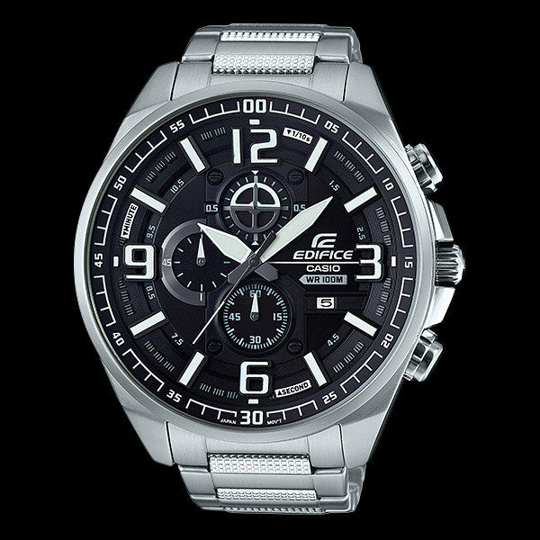 CASIO EDIFICE 500 SERIES BIG CASE BLACK DIAL CHRONOGRAPH WATCH EFR555D-1A