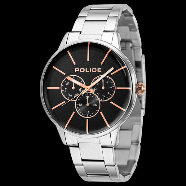 POLICE MEN'S SWIFT ROSE BLACK DIAL WATCH