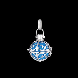 ENGELSRUFER SILVER TURQUOISE SMALL SOUNDBALL PENDANT