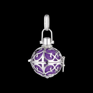 ENGELSRUFER SILVER PURPLE MEDIUM SOUNDBALL PENDANT
