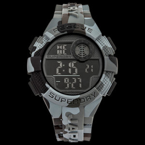 SUPERDRY RADAR RESCUE GREY CAMO SILICONE WATCH