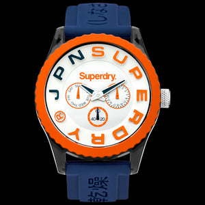 SUPERDRY TOKYO MULTI BLUE ORANGE SILICONE WATCH