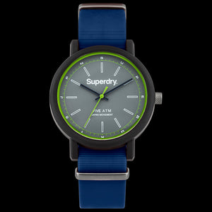 SUPERDRY CAMPUS NATO BLUE SILICONE WATCH