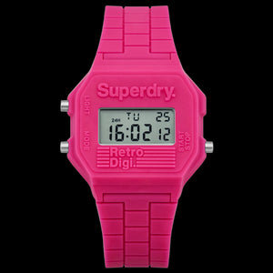 SUPERDRY PINK RETRO DIGITAL WATCH
