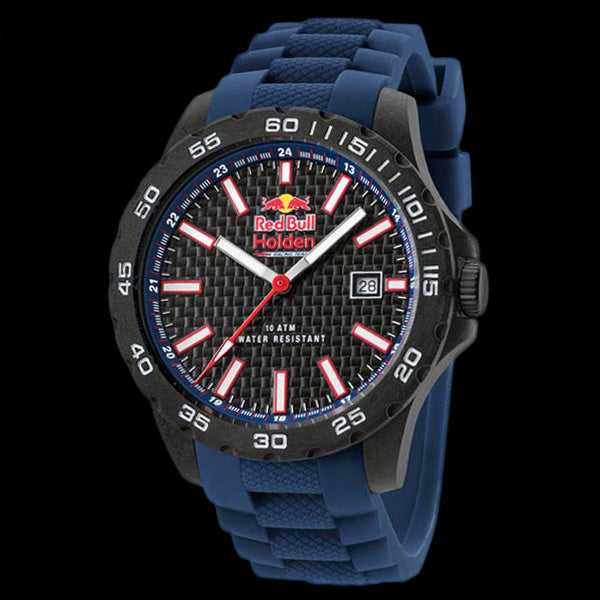 TW STEEL RED BULL HOLDEN RACING TEAM 40MM CARBON 3 HANDS BLUE SILICON WATCH