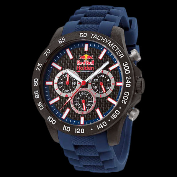 TW STEEL RED BULL HOLDEN RACING TEAM 45MM CARBON CHRONO BLUE SILICON WATCH RBH2