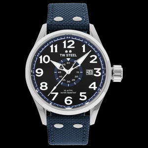 TW STEEL VS31 VOLANTE 45MM 3-HANDS BLUE STRAP WATCH