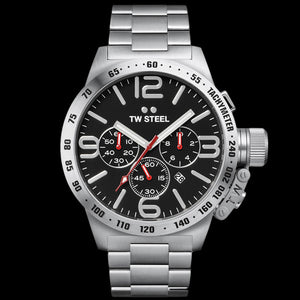 TW STEEL CANTEEN 50MM BLACK DIAL CHRONO WATCH CB8