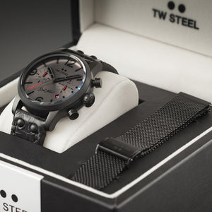 TW STEEL MST4 SON OF TIME AEON 48MM CHRONO SPECIAL EDITION WATCH - BOXED VIEW