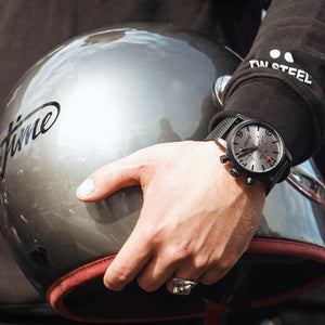 TW STEEL SON OF TIME AEON 48MM CHRONO SPECIAL EDITION WATCH MST4 - LIFESTYLE VIEW 1