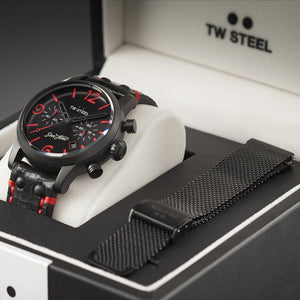 TW STEEL MST14 SON OF TIME TEMPUS FURY 48MM CHRONO SPECIAL EDITION WATCH - BOX VIEW