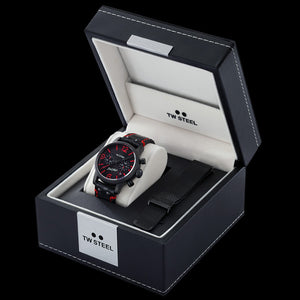 TW STEEL SON OF TIME TEMPUS FURY 48MM CHRONO SPECIAL EDITION WATCH - TWO STRAPS