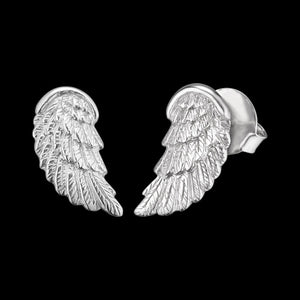 ENGELSRUFER SILVER WING STUD EARRINGS