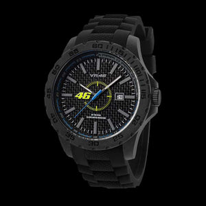 YAMAHA FACTORY RACING VR7 VALENTINO ROSSI VR46 40MM BLACK SILICON WATCH BY TW STEEL