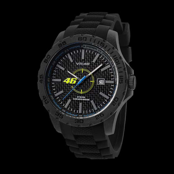 YAMAHA FACTORY RACING VALENTINO ROSSI VR46 40MM BLACK SILICON WATCH BY TW STEEL VR7