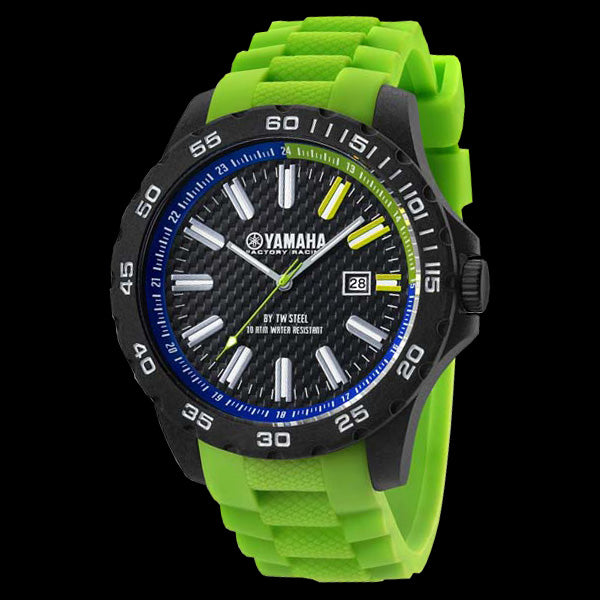YAMAHA FACTORY RACING 45MM GREEN SILICON WATCH BY TW STEEL Y10