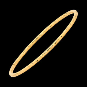 ELLANI STAINLESS STEEL GOLD IP ETCHED TUBE BANGLE