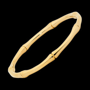 ELLANI STAINLESS STEEL GOLD IP BAMBOO BANGLE