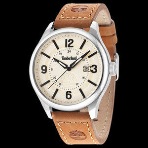 TIMBERLAND BLAKE BEIGE DIAL TAN LEATHER WATCH