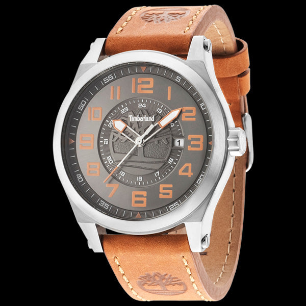 TIMBERLAND TILDEN GREY DIAL TAN LEATHER WATCH