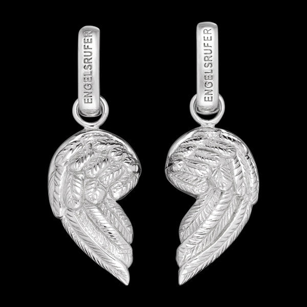 ENGELSRUFER SILVER FRIENDS OF HEARTS WING PULL-APART PENDANT