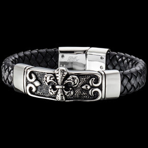 SAVE BRAVE MEN'S ZULU LEATHER BRACELET