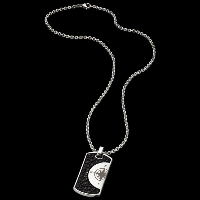 SAVE BRAVE MEN'S HAVANNA DOG TAG NECKLACE