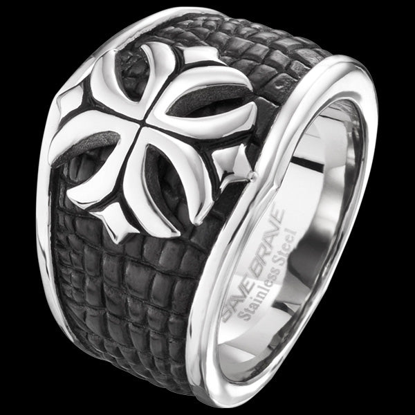 SAVE BRAVE MEN'S PETER CROSS RING