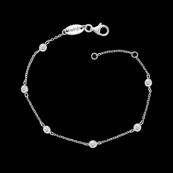 ENGELSRUFER SILVER CZ MOONLIGHT BRACELET