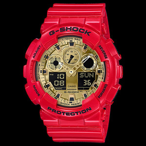 CASIO G-SHOCK RED & GOLD 2018 CHINESE NEW YEAR LIMITED EDITION WATCH GA100VLA-4A
