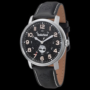 TIMBERLAND FRAMINGHAM SILVER BLACK DIAL LEATHER WATCH