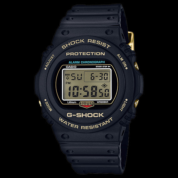 G-SHOCK 35TH ANNIVERSARY ORIGIN GOLD & BLACK LIMITED EDITION ROUND DIGITAL WATCH DW5735D-1B