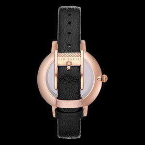 TED BAKER KATE ROSE GOLD BLACK DIAL ORIENTAL BLOSOM FLORAL WATCH - BACK VIEW