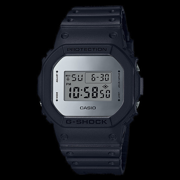 CASIO G-SHOCK SILVER DIGITAL SQUARE METALLIC MIRROR FACE WATCH DW5600BBMA-1D