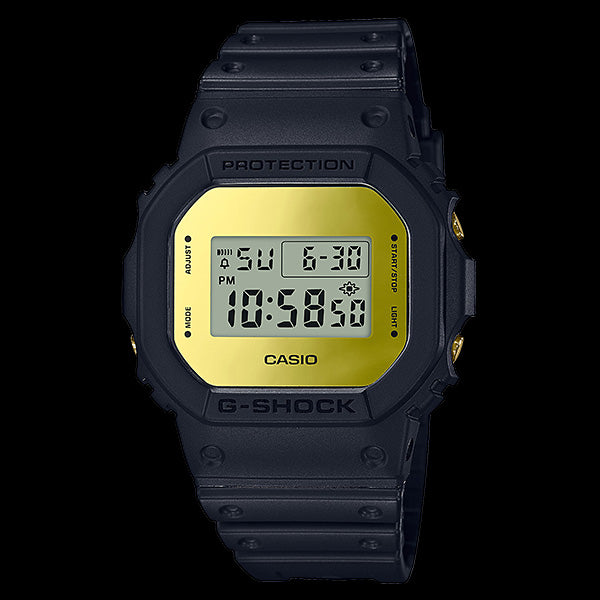 CASIO G-SHOCK GOLD DIGITAL SQUARE METALLIC MIRROR FACE WATCH DW5600BBMB-1D