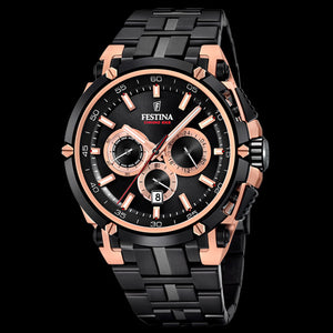 FESTINA MEN'S CHRONO BIKE ROSE GOLD BLACK SPECIAL EDITION WATCH